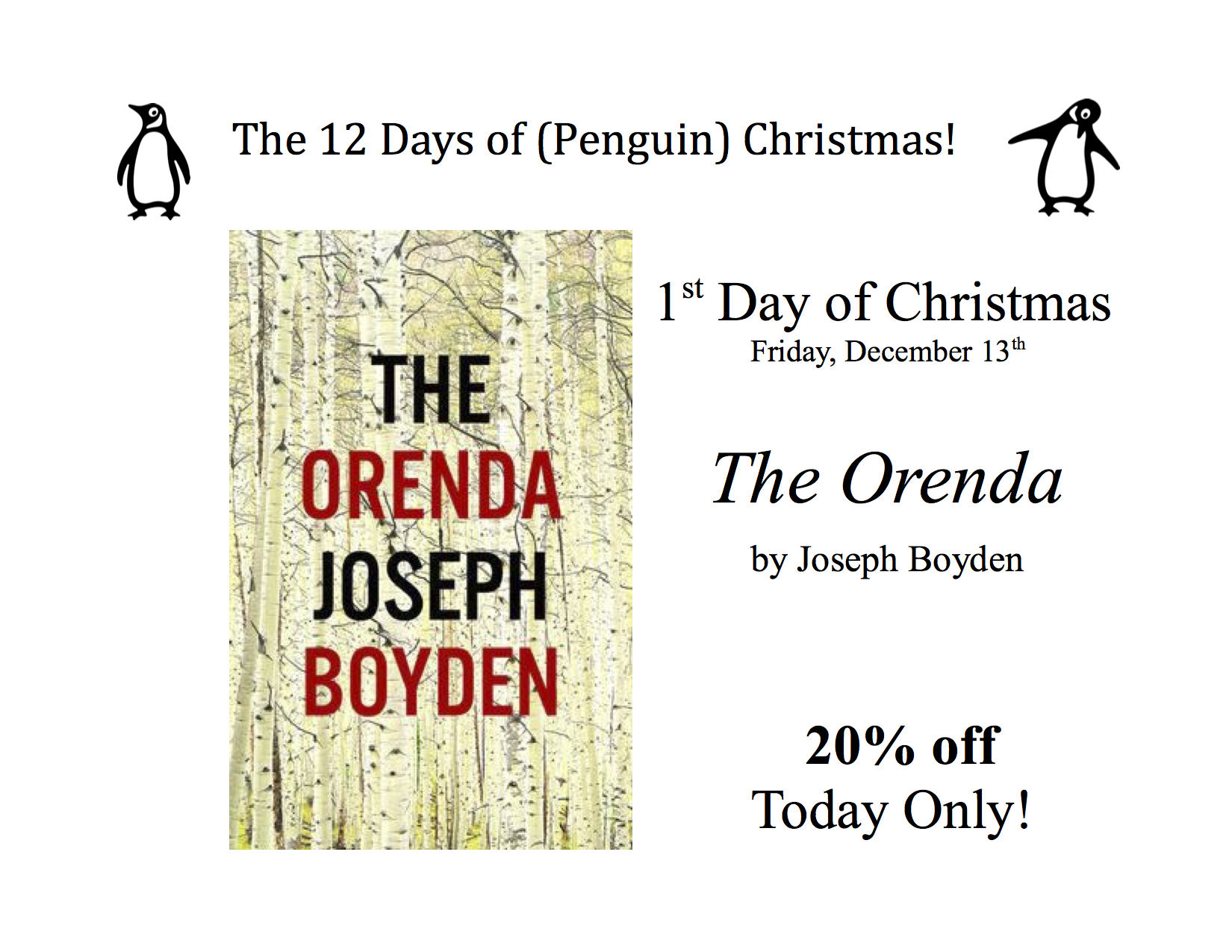 1st Day of (Penguin) Christmas – Friday, December 13th – Books On ...